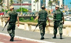 Brazilian soldiers in Salvador