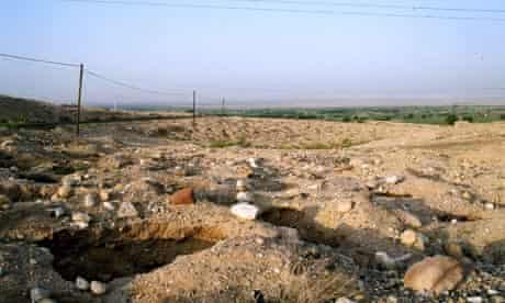 A looted cemetery in Jordan in 2004. Copyright: Neil Brodie