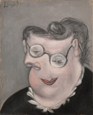 Picasso & Modern Brit Art: Portrait of Emilie Marguerite Walter by Picasso