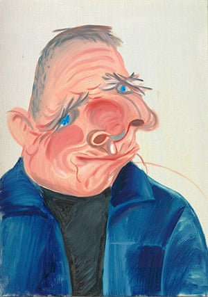 """Picasso & Modern Brit Art: """"Christopher Without His Glasses On"""" 1984 by David Hockney"""