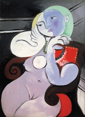 Picasso & Modern Brit Art: Nude Woman in a Red Armchair 1932 by Pablo Picasso