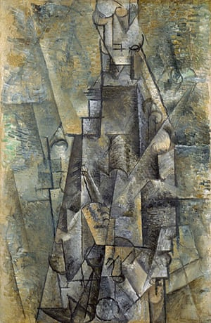 Picasso & Modern Brit Art: Man with a Clarinet 1911-12 by Pablo Picasso