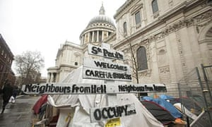 Occupy London's site outside St Paul's