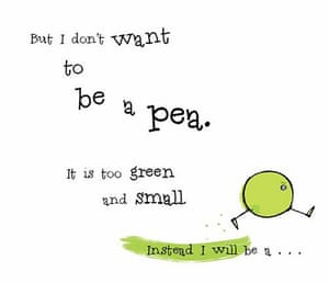 waterstones: I Don't Want to be a Pea! by Ann Bonwill & Simon Rickerty