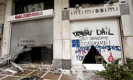 Riots in Athens, Greece - 13 Feb 2012