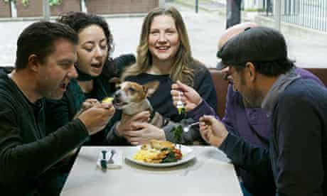 Angela Hartnett with friends at the Modern Pantry