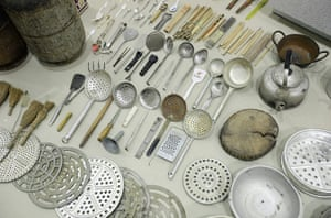 Soon Dong installation: Kitchen utensils in the installation