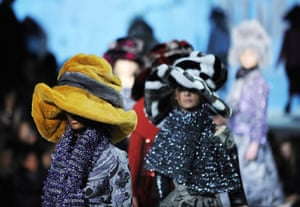 Marc Jacobs: The Marc Jacobs presentation was notable for its hat