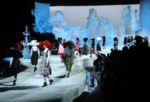 Marc Jacobs: The catwalk featured an elaborate set featuring a white half-built castle