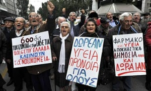 Greek pensioners protest