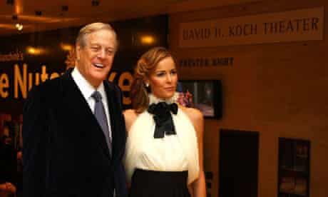 David Koch, one of the billionaire Koch brothers, with wife Julia