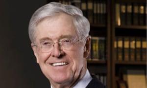 The billionaire Charles Koch, a key financier of the Heartland Institute