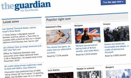The Guardian Facebook app