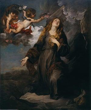 Van Dyck: St Rosalie in Glory