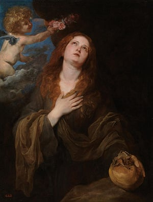 Van Dyck: St Rosalie crowned with Roses by Two Angels