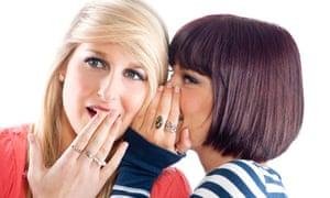 two girls gossiping