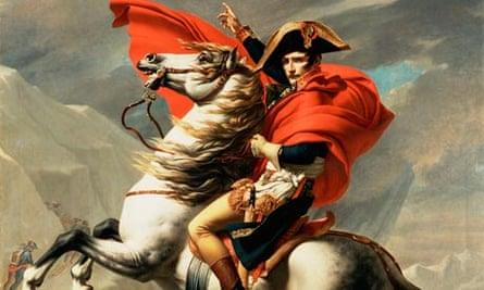 Napoleon on Horseback at the St Bernard Pass by Jacques-Louis David