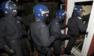 Police raids have led to more than 500 arrests and the seizure of weapons and drugs