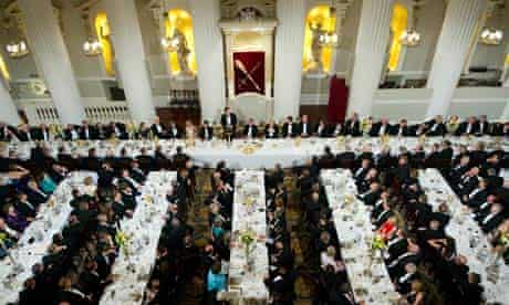 A general view of the Lord Mayor's dinne
