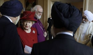 The Queen meets Sikh guests at a multi-faith reception at Lambeth Palace this week