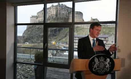 Britain's Prime minister David Cameron David Cameron delivers a speech in Edinburgh, Scotland