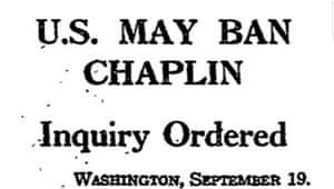 US ban Chaplin