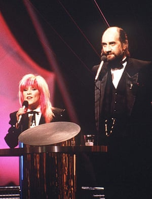 The 10 best: Samantha Fox and Mick Fleetwood hosting The Brit Awards in 1989
