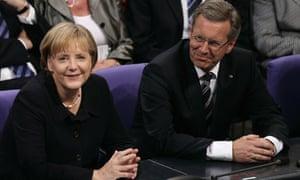 Angela Merkel with Christian Wulff