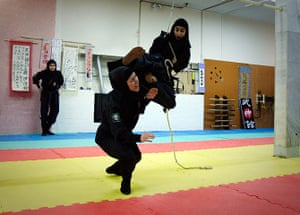 iran female ninjas: I learned this move from James Bond