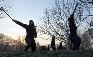 iran female ninjas: Handbags at dawn? No way