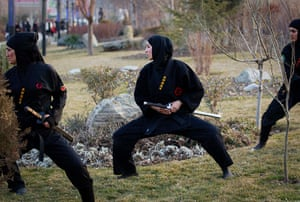 iran female ninjas: Both stylish and practical: ninja fashion