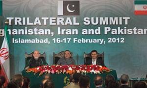 President Ahmadinejad at summit in Islamabad