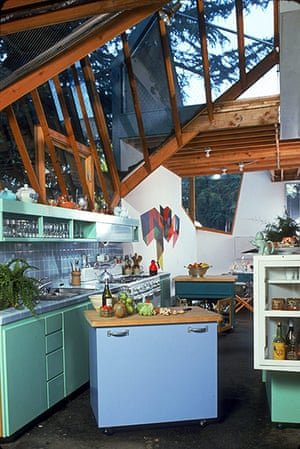 Frank Gehry: The kitchen of Gehry's Santa Monica home