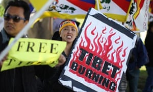 Demonstrations against Chinese rule in Tibet