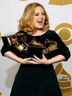 Week in Music: 54th Annual Grammy Awards, Press Room, Los Angeles, America - 12 Feb 2012