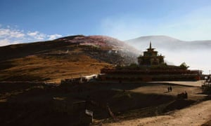 A monastery in Serthar county, Sichuan province