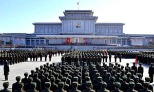 North Korean soldiers in Pyongyang