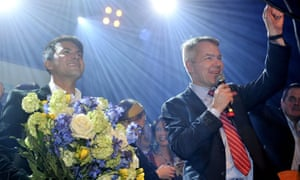 Finland's Green party presidential candidate Pekka Haavisto and his partner Nexar Antonio Flores