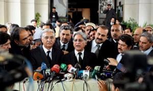 Aitzaz Ahsan, awyer for Pakistani prime minister Yousuf Raza Gilani