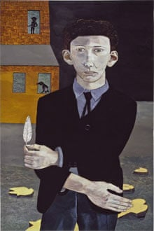 Man with a Feather (Self-portrait), 1943, Lucien Freud