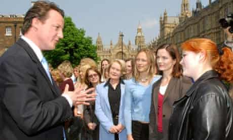 David Cameron with a women councillors in 2006