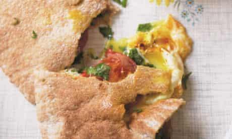 'Shaitany' fried egg pitta pockets