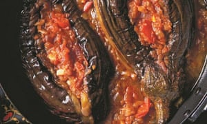 'Swooning Imam' stuffed aubergines