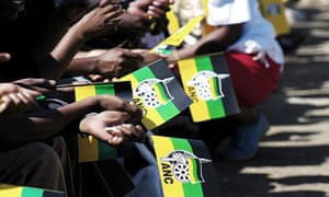 African National Congress supporters gather at an ANC rally in Kwa Mashu, Durban, South Africa