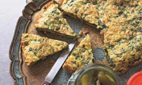Kookoo sabzi or herb omelette