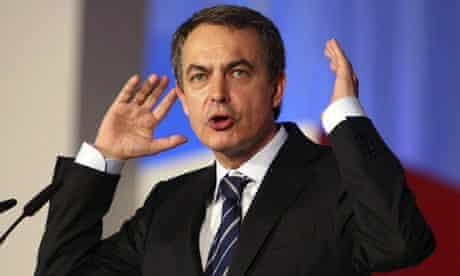 Jose Luis Rodriguez Zapatero attends an electoral event  in Elche