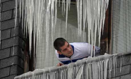 icicles in Serbia