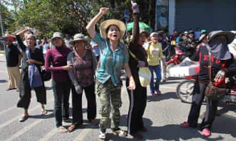 The residents from squatter areas gather to protest