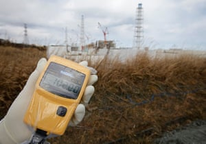 inside Fukushima: a radiation monitor indicates 102.00 microsieverts per hour