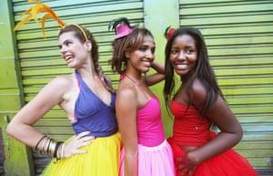 Rio Carnival: Revelers smile while posing during Carnival celebrations